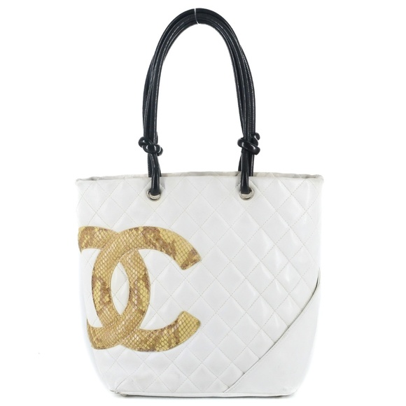 3397ca86695f32 CHANEL Bags | Quilted Python Cambon Ligne Medium Tote | Poshmark